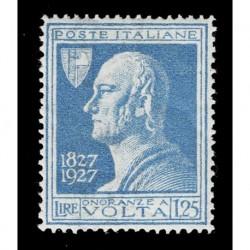 1927 Regno 1,25 lire Alessandro Volta Sas.213 nuovo MH/*