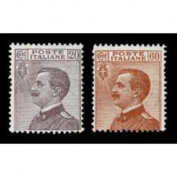 1926 Regno francobolli ordinari tipo Michetti nuovi MH/*