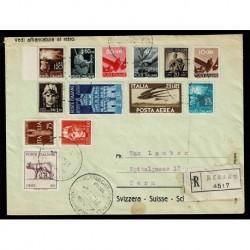 1947 raccomandata Merano mista democratia + imperiale gemelli