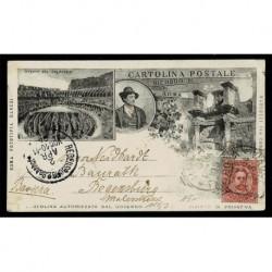 1894 Cartolina FP BN Ediz. Danesi Colosseo per Ratisbona