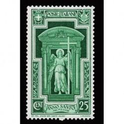1933 Regno Anno Santo 25cent Sas.346 nuovo bicolore MH/*