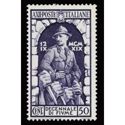 1934 Regno Decennale Fiume 50c Sas.352 nuovo MH/*