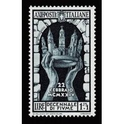 1934 Regno Decennale Fiume 1,75+1 lire Sas.354 nuovo MH/*