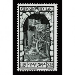 1934 Regno Decennale Fiume 2,75+2,50 lire Sas.356 nuovo MH/*