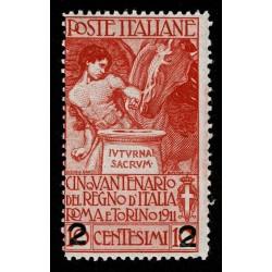 1913 Regno Unità d'Italia soprastampato 2 su 10 cent Sas.100 nuovo MNH/**