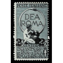 1913 Regno Unità d'Italia soprastampato 2 su 15 cent Sas.101 nuovo MNH/**