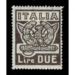 1923 Regno Marcia su Roma 2 Lire Sas.145 nuovo MH/*