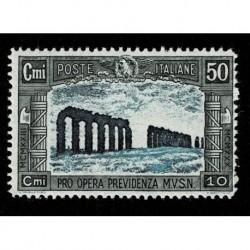 1928 Regno Previdenza Milizia 50 + 20 cent Sas.221 nuovo MNH/**