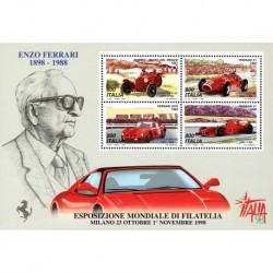 1998 Esposizione di filatelia giornata della Ferrari - foglietto