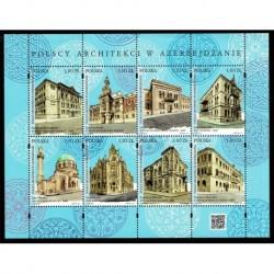 2019 Polonia congiunta Azerbaigian (Joint Iusse) architetti polacchi foglietto