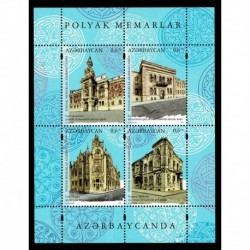 2019 Azerbaigian congiunta Polonia (Joint Iusse) architetti polacchi foglietto