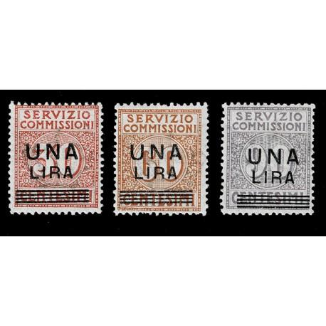 1925 Regno Servizio Commissioni soprastampati Sas.4/6 nuovi MH/*