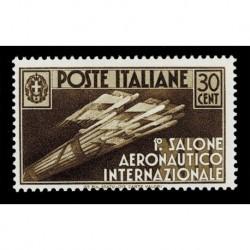 1935 Regno Salone Aeronautico Internazionale 30cent Sas.385 MH/*