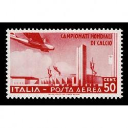 1934 Regno Mondiali di Calcio Posta Aerea 50c Sas.A69 nuovo MH/*