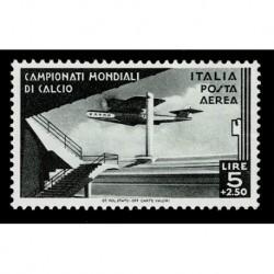 1934 Regno Mondiali di Calcio Posta Aerea 5+2,5Lire Sas.A71 nuovo MH/*