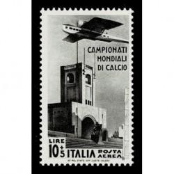 1934 Regno Mondiali di Calcio Posta Aerea 10+5Lire Sas.A72 nuovo MH/*
