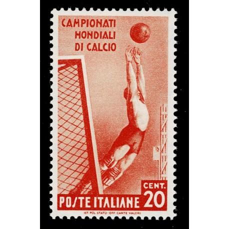 1934 Regno Mondiali di Calcio 20c Sas.357 nuovo MLH/*