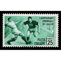 1934 Regno Mondiali di Calcio 25c Sas.358 nuovo MH/*