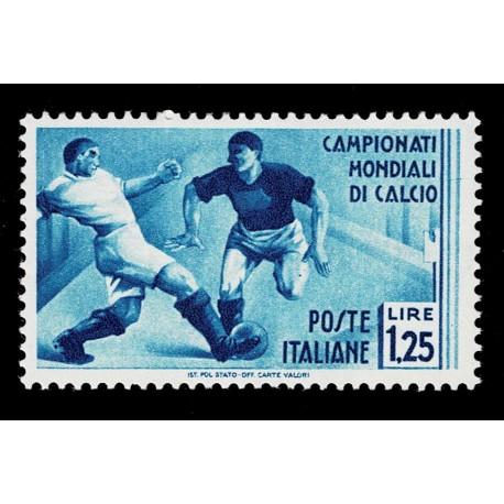 1934 Regno Mondiali di Calcio 1,25 lire Sas.360 nuovo MH/*