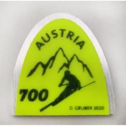2020 Austria Nazione sciistica - Francobollo unusual punta da sci