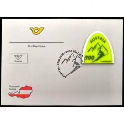 2020 Austria FDC Francobollo punta da sci - unusual stamps