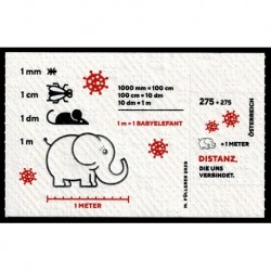 2020 Austria foglietto distanziamento sociale su carta igienica Unusual Stamp