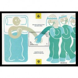 2020 Spagna foglietto Pandemia virus - mani per restare uniti e dire grazie