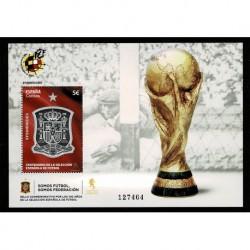 2020 Spagna anniversario nazionale di calcio - Foglietto