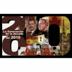 2020 Spagna generazione del 2010 foglieto sagomato