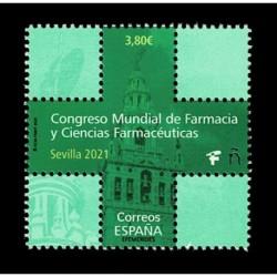 2020 Spagna Congresso Farmacia a Siviglia - Francobollo forma di croce