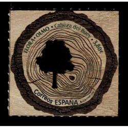 2020 Spagna Francobollo legno Olmo di Cabeza del Buey - Unusual Stamps