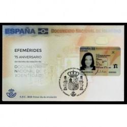 2020 Spagna carta identità poliestere unusual stamps FDC