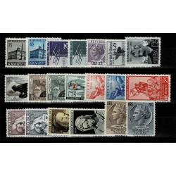 1954 Repubblica annata completa MNH/** 100Lire Siracusana 20Val