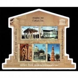 2020 India patrimonio mondiale dell'UNESCO Monumenti Sagomato