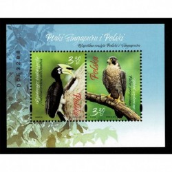 2019 Polonia Congiunta (Joint Iusse) Singapore Uccelli foglietto