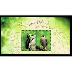 2019 Singapore Congiunta (Joint Iusse) Polonia Uccelli foglietto
