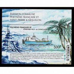 2019 Polinesia Congiunta SP&Miquelon Hawaiki Nui ex Langlade Navi