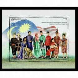 2019 Malesia Joint Iusse ASEAN Costumi tradizionali foglietto