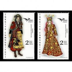 2019 Turchia EuroMed Costumi tradizionali serie