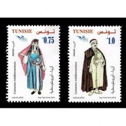 2019 Tunisia EuroMed Costumi tradizionali serie