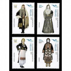 2019 Grecia EuroMed Costumi tradizionali serie