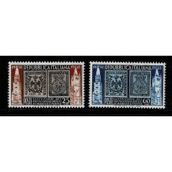 1952 Repubblica primi francobolli Modena e Parma Sas.689/690 MNH/**