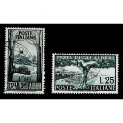 1951 Repubblica Festa degli Alberi Sas.680/681 serie usata