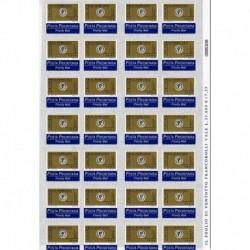 1999 Repubblica Posta Prioritaria 0,62€ tipografica Foglio intero con label