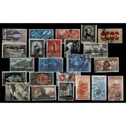 1948/52 Repubblica insieme di francoblli usati ruota ( CV 130€)