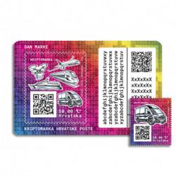 2020 Croazia Crypto Stamp mezzi di trasporto Caravan