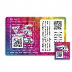 2020 Croazia Crypto Stamp mezzi di trasporto TRENO