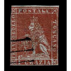 1851 ASI Granducato di Toscana 1 Crazia carta azzura Sas.4b usato