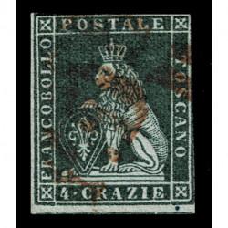 1851 ASI Granducato di Toscana 4 Crazie Sas.6 usato