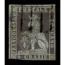 1851 ASI Granducato di Toscana 9 Crazie Sas.8 usato